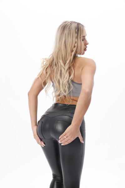 2019 Low/High Waist Eco-Leather Pants With A Built-in Tush Push up Trainer X Edition™ Lifts &Supports - Flattering Fit