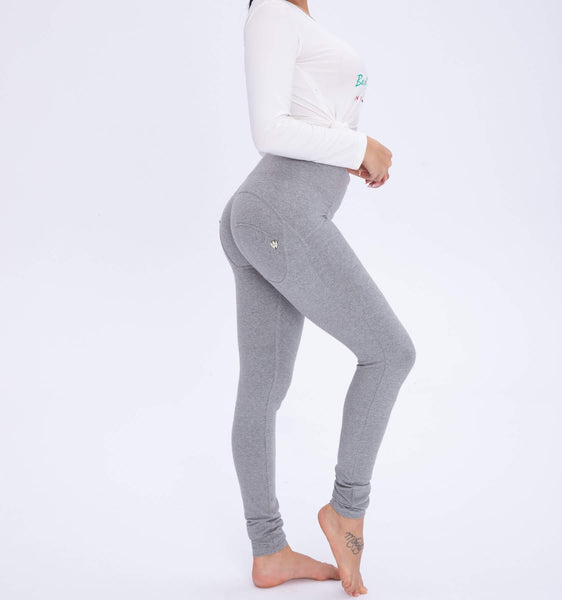 High Waisted Gray Knitted With Hiney Trainer X™