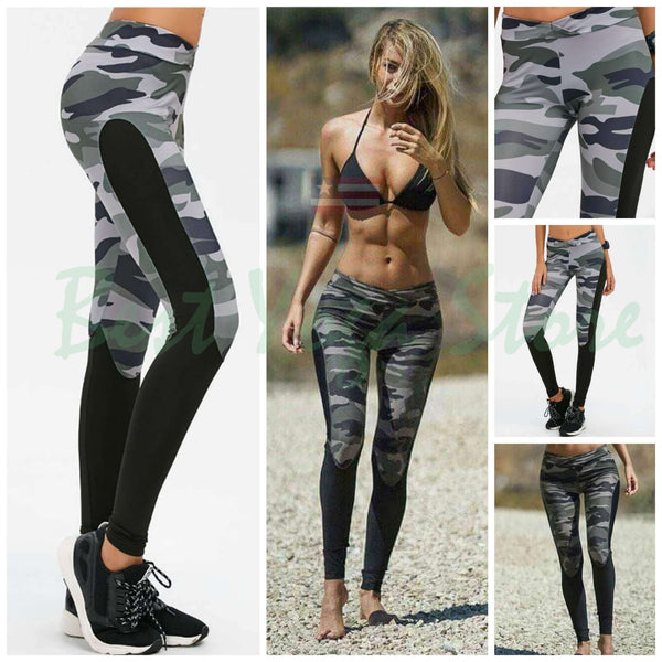 2020 Camo Patchwork Yoga/ Workout Leggings