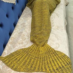2019 Hand Woven Mermaid Tail Blanket