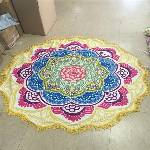 Lotus Flower Meditation Throw