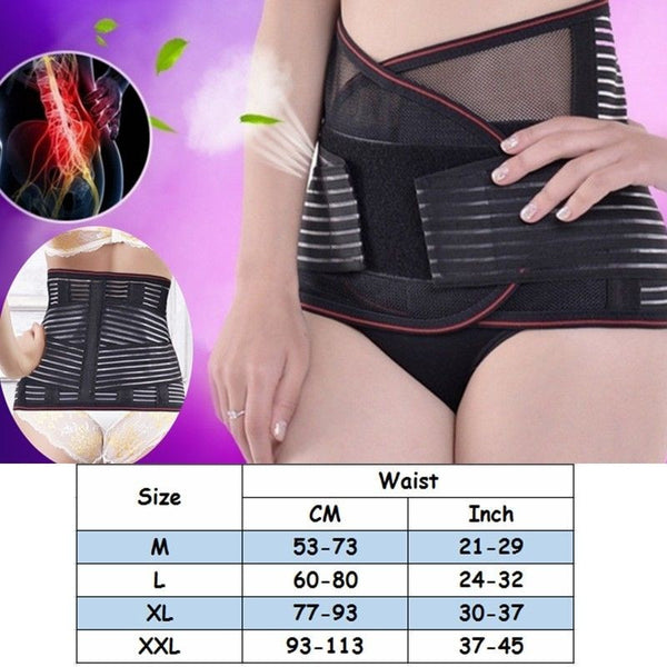Unisex Breathable Lumbar Waist Back Medical Support  Pain Relief Belt