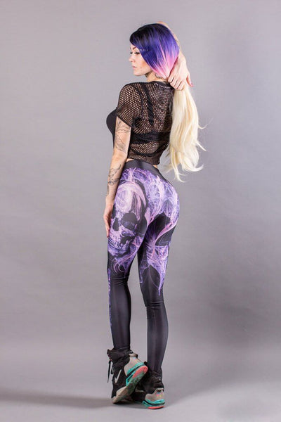 2020 Fashion Crossbones Printed Leggings with Hiney Trainer™