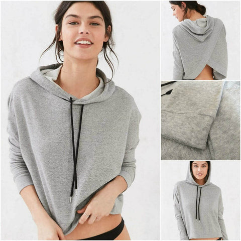 Strech Girl Slouchy Broadcloth Cotton Hoodie - Limited Edition