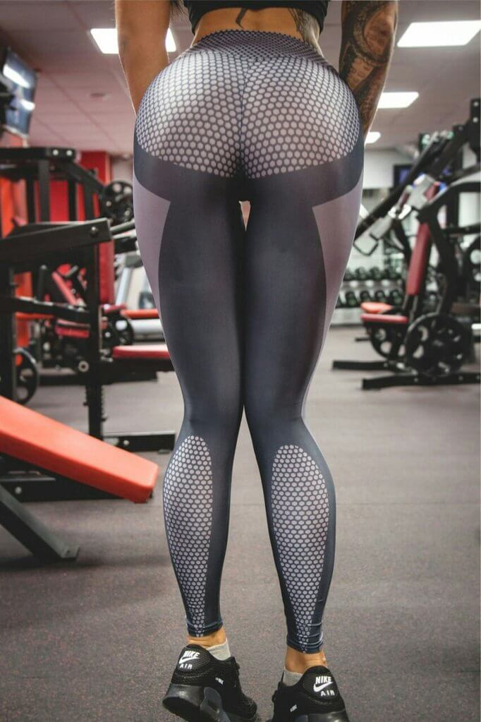 2019 Fashion Crossbones Printed Leggings with Hiney Trainer™ Lift & Support