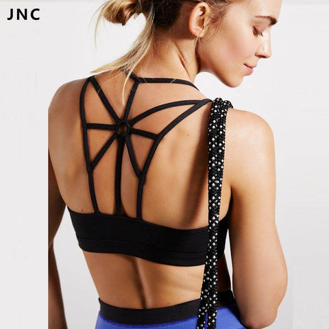 Cross Back Wire FREE Removable Padded Sport Bra - 2019 Design