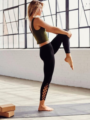 HIGH END 2020 Side Criss Cross High Waist Yoga Leggings