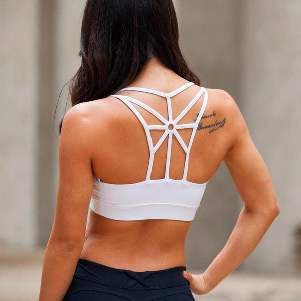 Cross Back Wire FREE Removable Padded Sport Bra -2020 Design