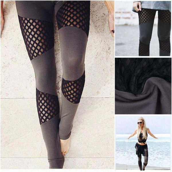 2019 DOUBLE MESH YOGA PANTS / WORKOUT LEGGINGS.