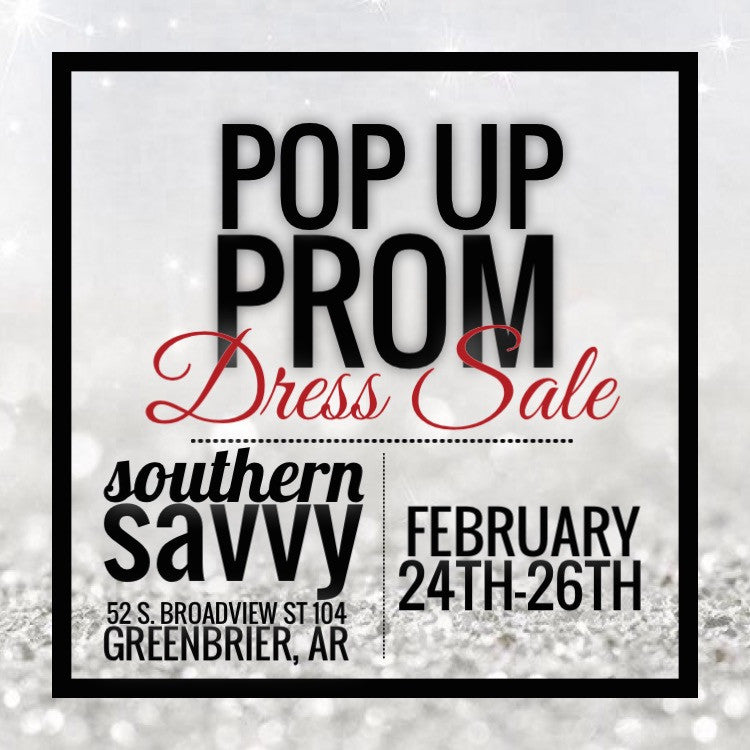 Our Pop Up Prom Sale 2017