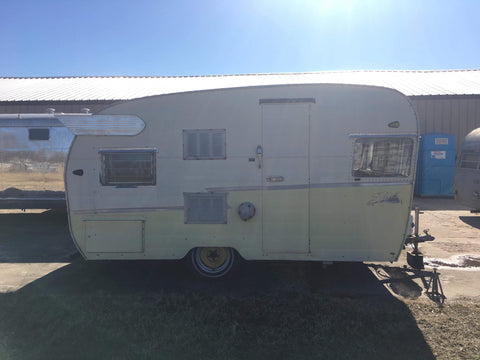 shasta yellow camper