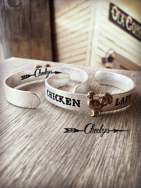 cheekys chicken lady cuff