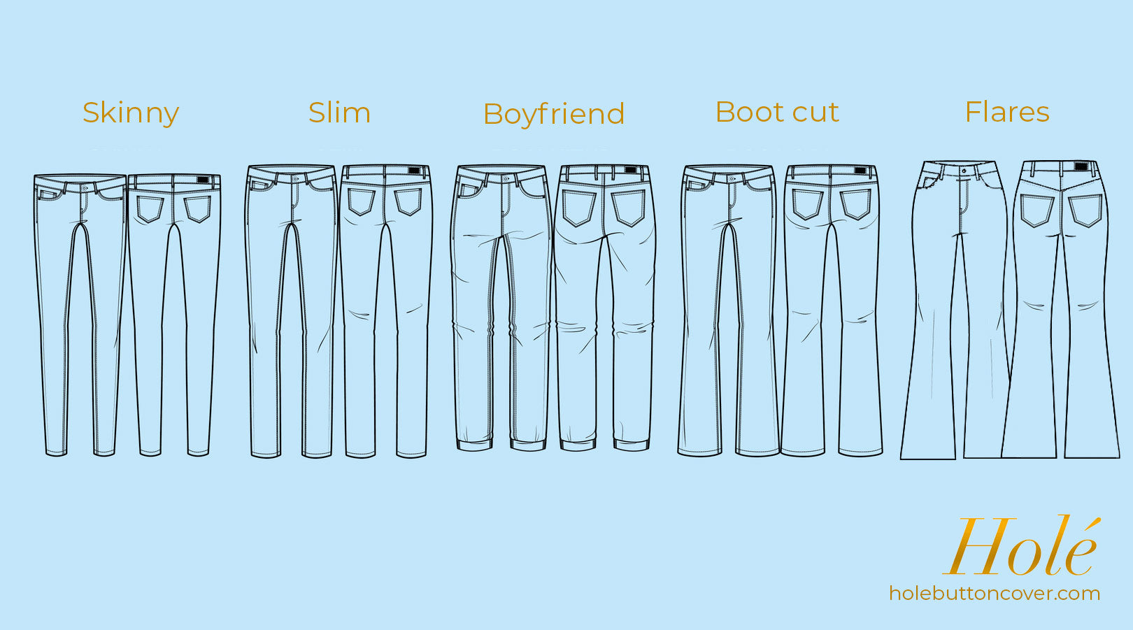 Different jeans for your body shape