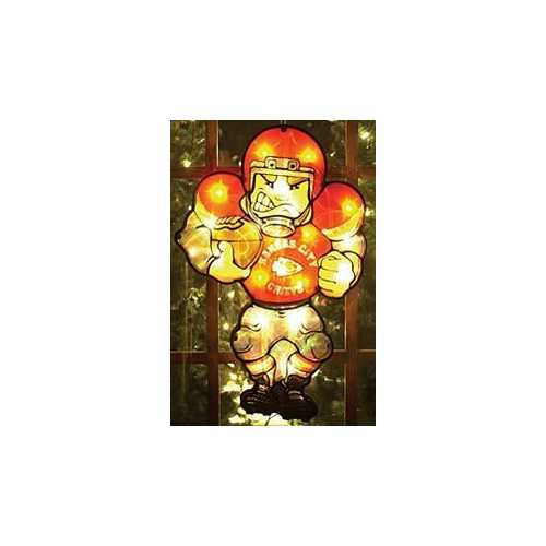 Kansas City Chiefs Window Light Up Player 20 Inch Double Sided