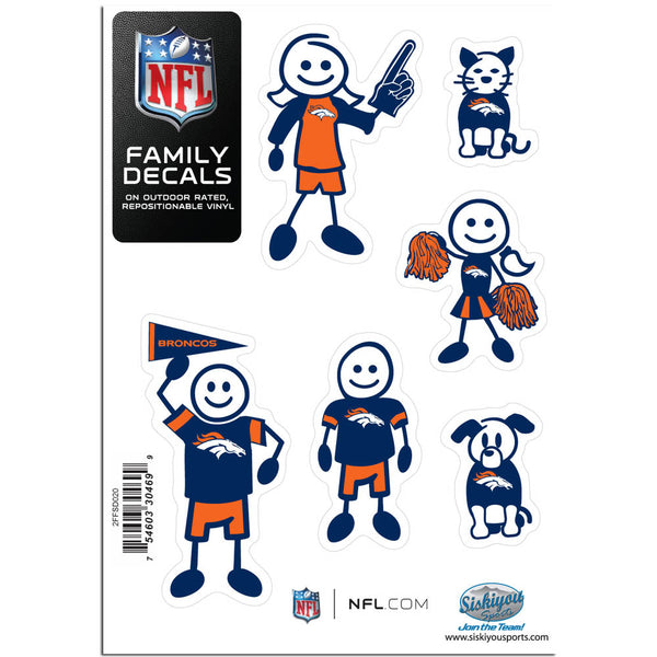 Denver Broncos Family Decal Set Small