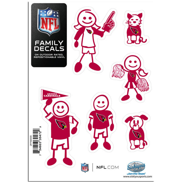 Arizona Cardinals Family Decal Set Small