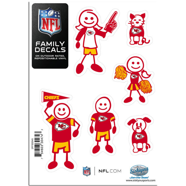 Kansas City Chiefs Family Decal Set Small
