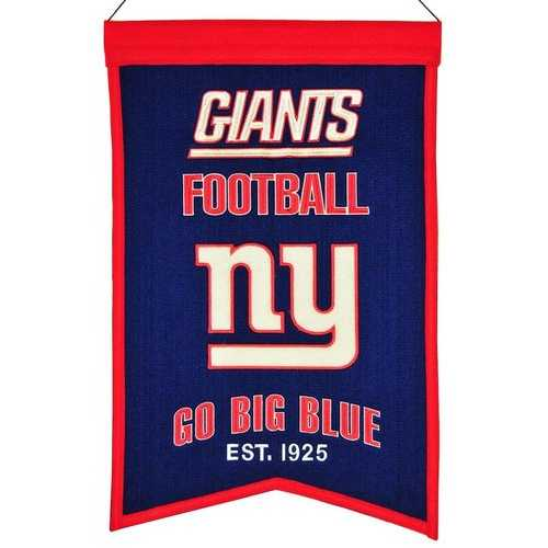 New York Giants Banner 14x22 Wool Franchise Special Order