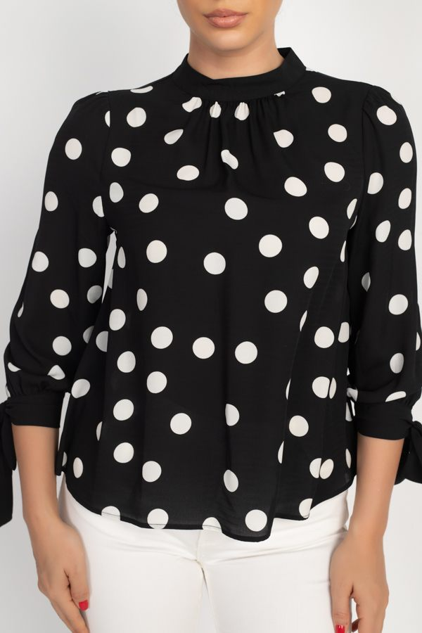 Long Sleeve Polka Dot Shirt