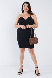 Plus Size Mini Sweetheart Dress