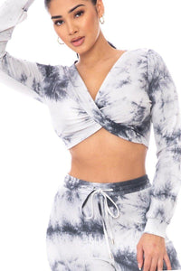 Tie Dye Ribbed Sweater Set