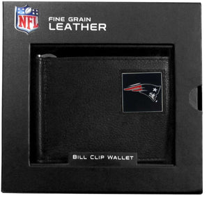 New England Patriots Leather Bill Clip Wallet