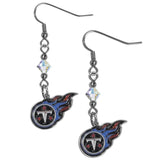 Tennessee Titans Crystal Dangle Earrings