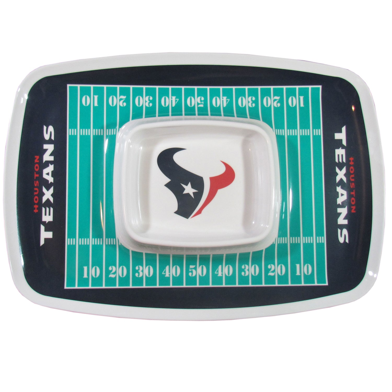 Houston Texans Chip and Dip Tray
