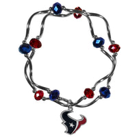 Houston Texans Crystal Bead Bracelet