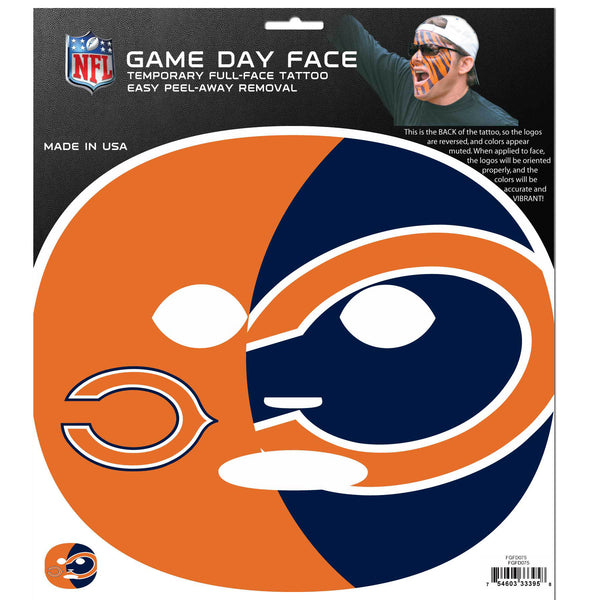 Chicago Bears Game Face Temporary Tattoo