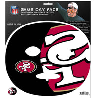San Francisco 49ers Game Face Temporary Tattoo