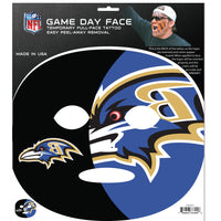 Baltimore Ravens Game Face Temporary Tattoo