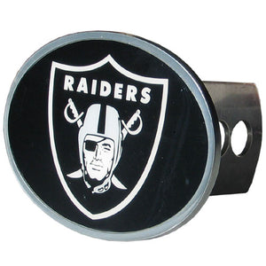 Las Vegas Raiders Oval Metal Hitch Cover Class II and III