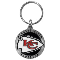 Kansas City Chiefs Carved Metal Key Chain