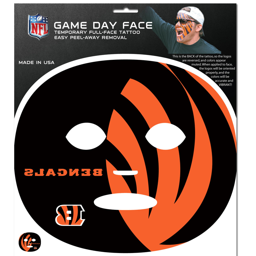 Cincinnati Bengals Game Face Temporary Tattoo - X MAX SPORTS