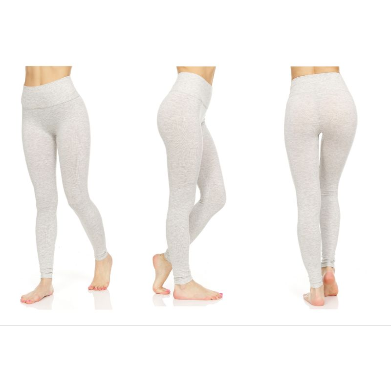 Women's Marled Tummy Control Slimming Leggings - 3 Pack