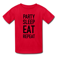 Party Eat Sleep Kids' T-Shirt #25542525 - X MAX SPORTS