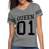 Queen 01 Women's Vintage Sport T-Shirt #2552442 Double Sided Print - X MAX SPORTS