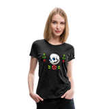 Skull Flower Women's Premium T-Shirt #55393809 - X MAX SPORTS
