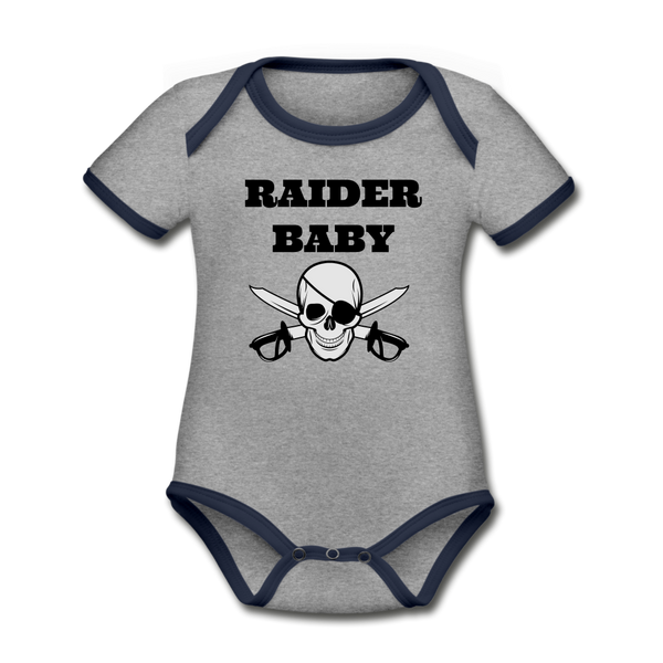 Raider Baby Organic Contrast Short Sleeve Baby Bodysuit #42452545 - X MAX SPORTS