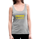 Strong Woman Women's Premium Tank Top #25524423 - X MAX SPORTS