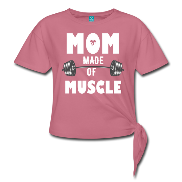 Made Of Muscle Women's Knotted T-Shirt #4365266 - X MAX SPORTS