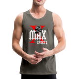 X Max Sports Men's Premium Tank #4233255 - asphalt gray