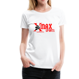 X max Sports Women's Premium T-Shirt 10 Colors to Choose From #434555 - white