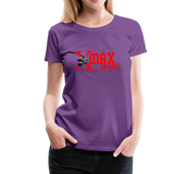 X max Sports Women's Premium T-Shirt 10 Colors to Choose From #434555 - purple