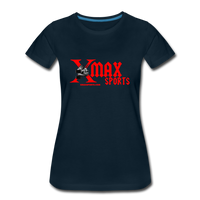 X max Sports Women's Premium T-Shirt 10 Colors to Choose From #434555 - deep navy