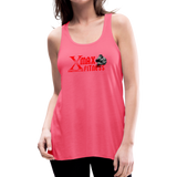 X Max Women's Flowy Tank Top by Bella #498 - neon pink