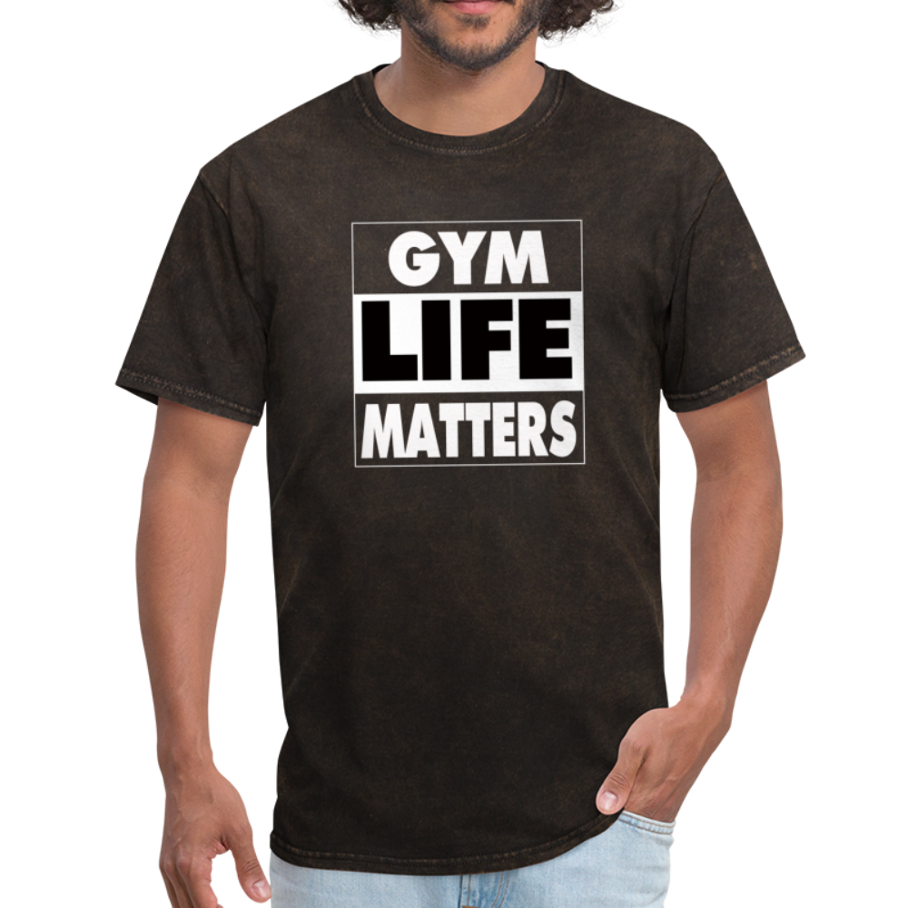 Gym Life Matters Men's T-Shirt #54354354 - mineral black