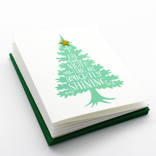 Rustic Tree (Seafoam) Boxed Cards