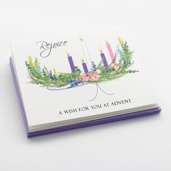 Advent Candles Boxed Cards